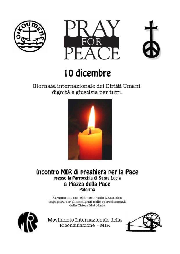 preghiera MIR 10 dicembre 2013